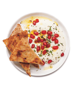 Whipped Ricotta With Pomegranate and Mint