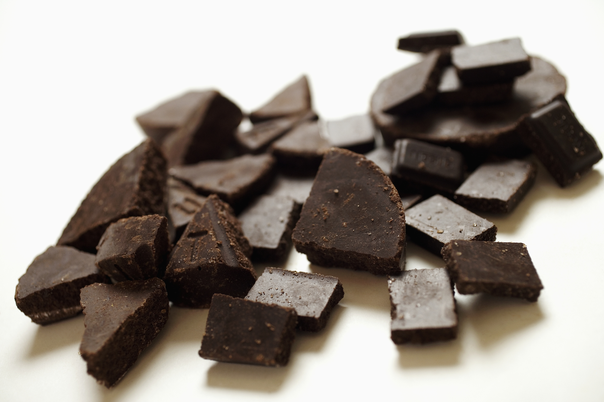 Pieces of chocolate.