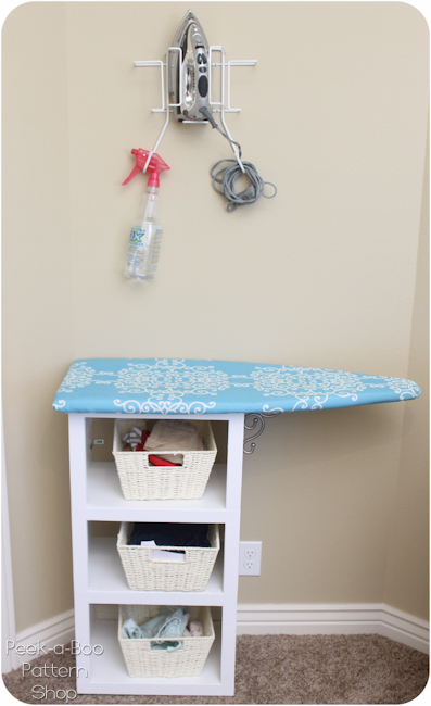 Bookshelf Turned Ironing Station