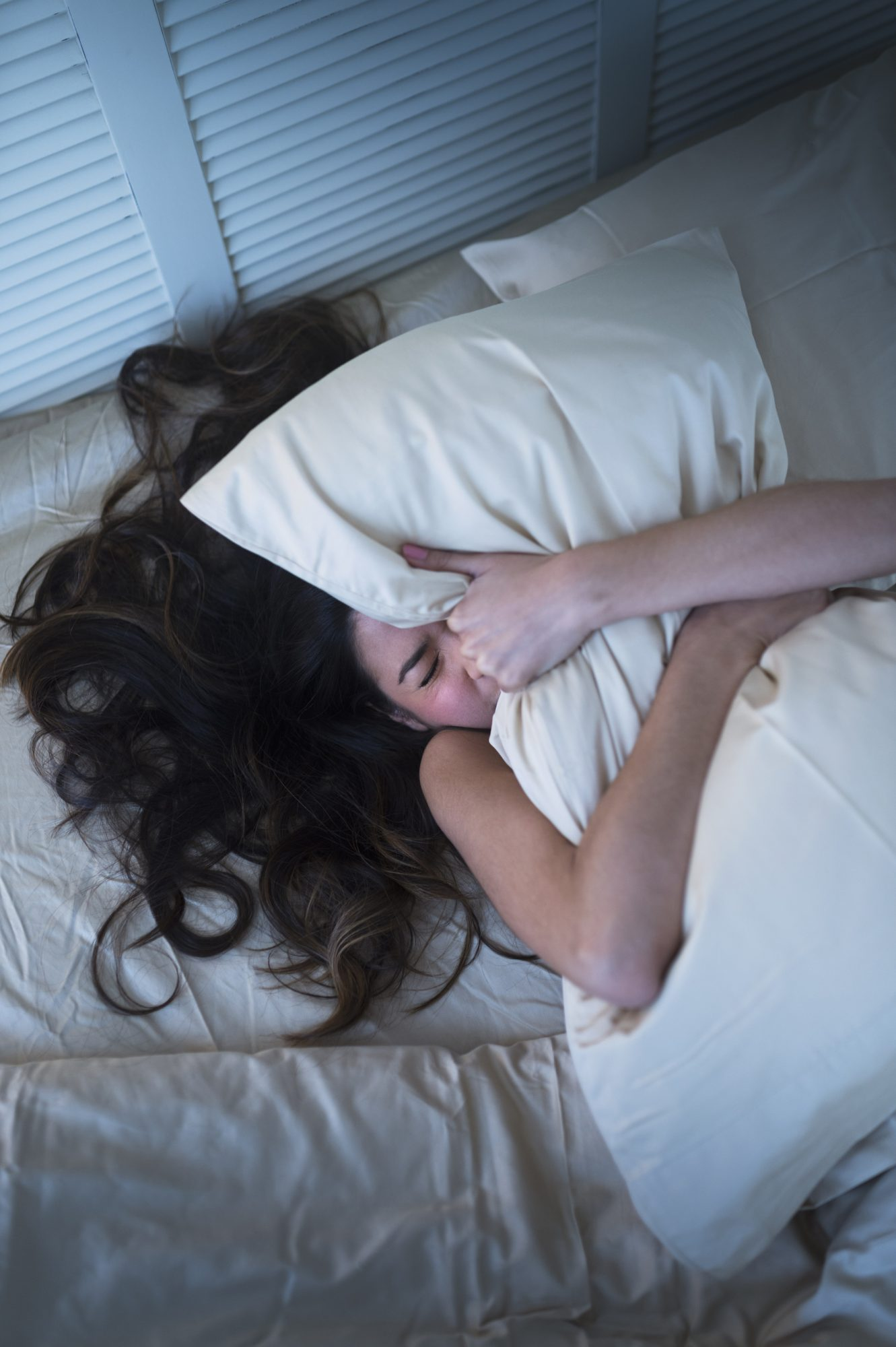 trouble sleeping, frustrated in bed