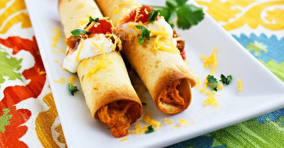 Cheesy Chicken Taquitos with Mexican Rice