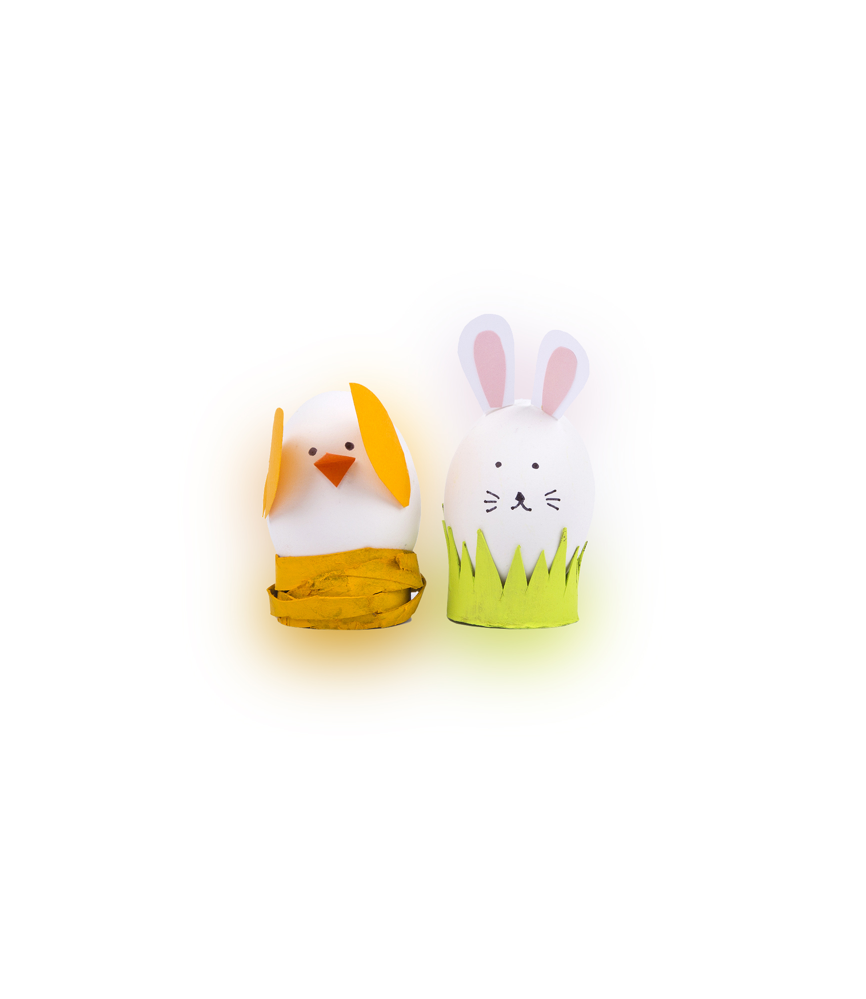 Easter egg ideas - Chick and Bunny Easter Eggs