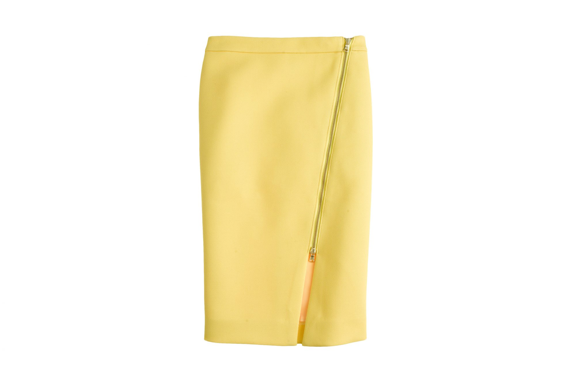 J.Crew Zip Pencil Skirt Bright Citron
