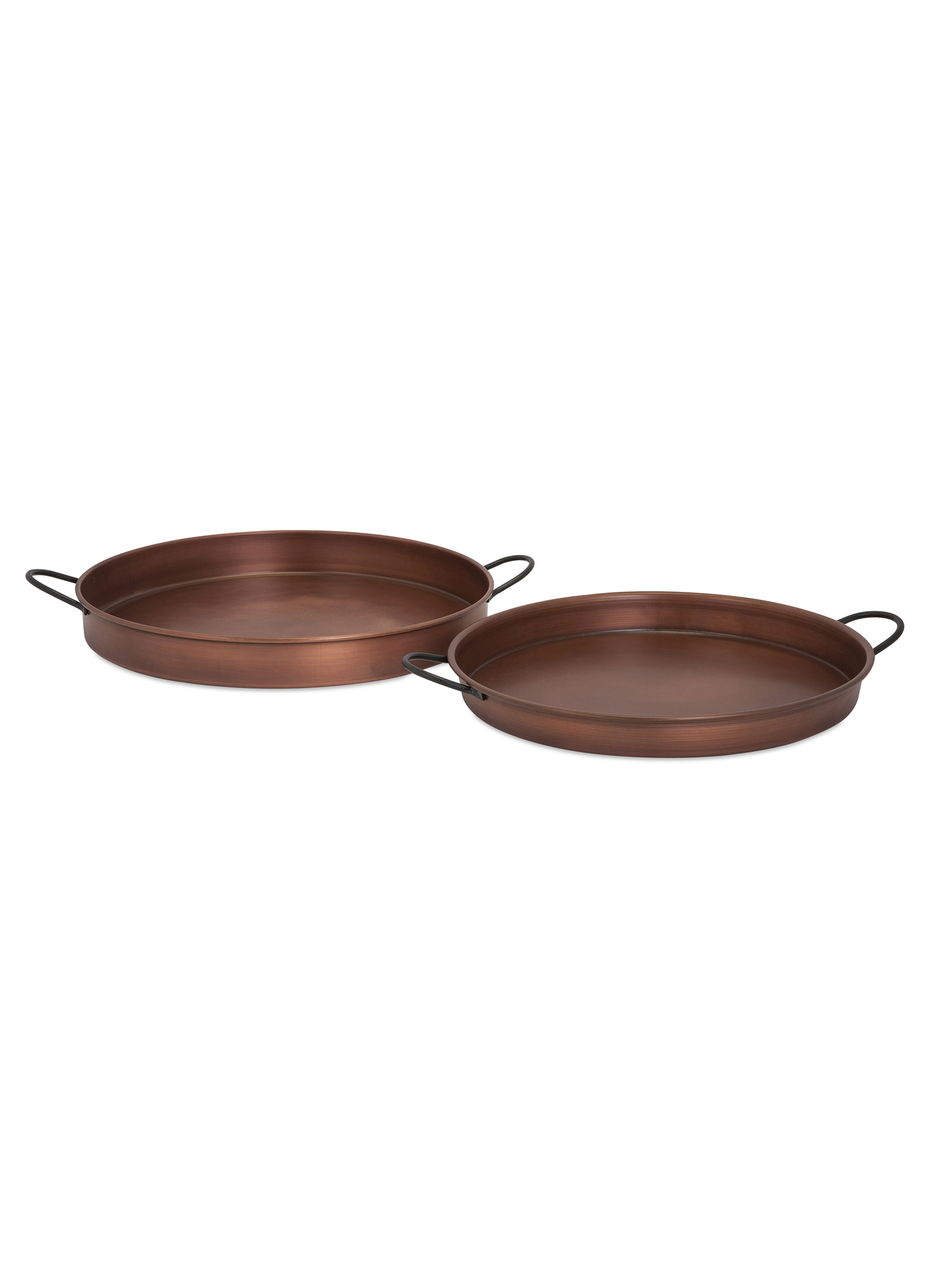 Imax 2 Piece Tarson Copper Plated Tray Set