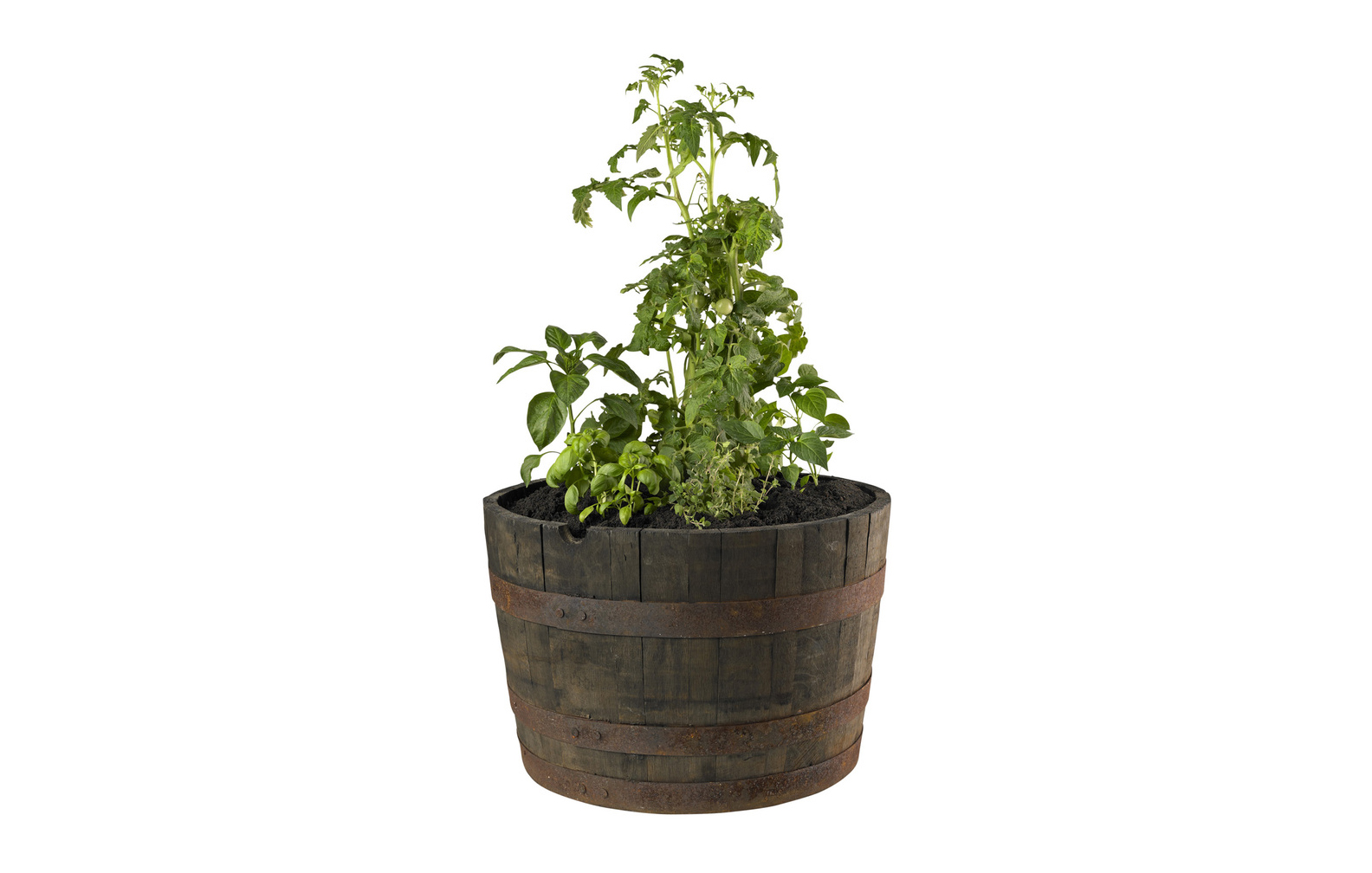Oak Wood Outdoor Planter