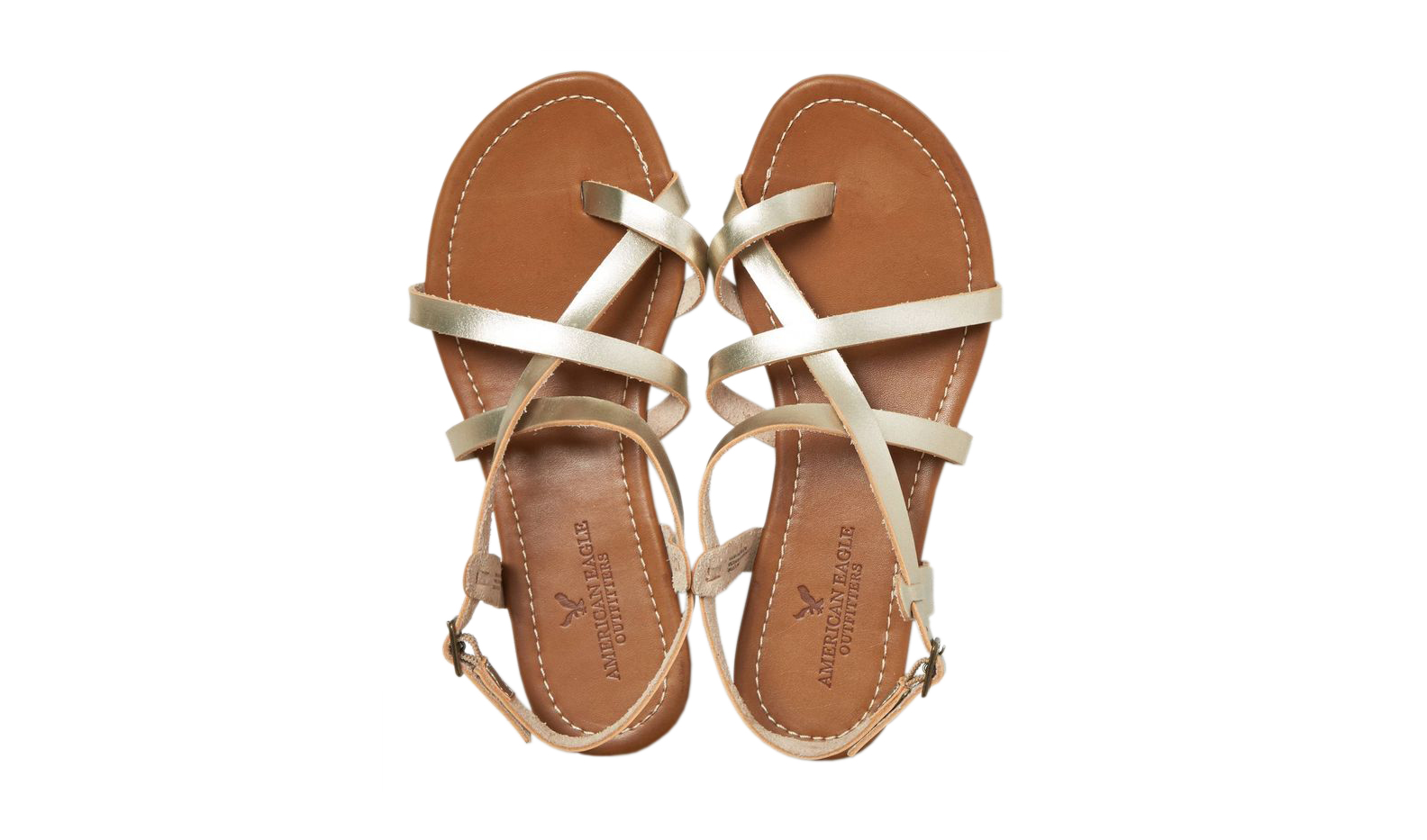 AEO Strappy Criss Cross Sandal Gold