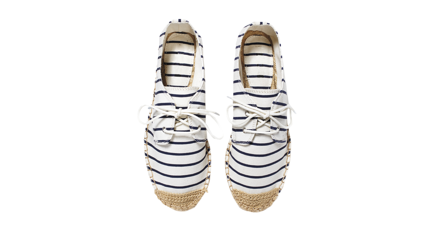 Forever 21 Striped Lace-Up Espadrilles