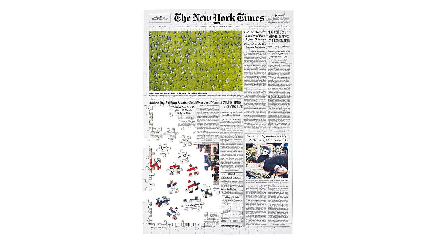 New York Times Front Page Jigsaw Puzzle