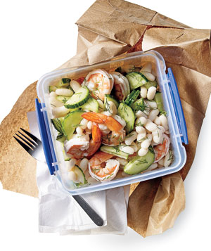 Lemony Shrimp and White Bean Salad