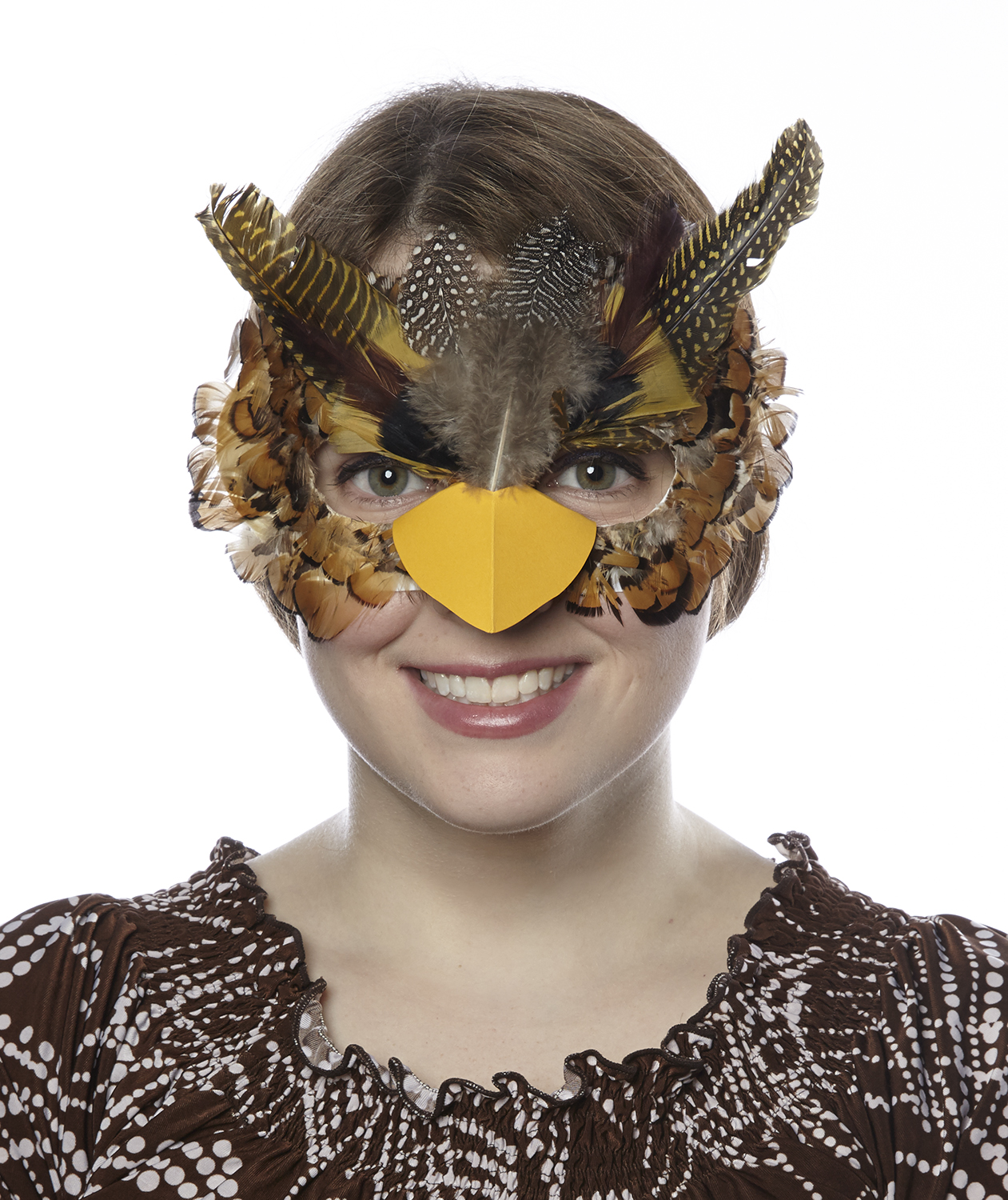 DIY Halloween costumes - Owl mask