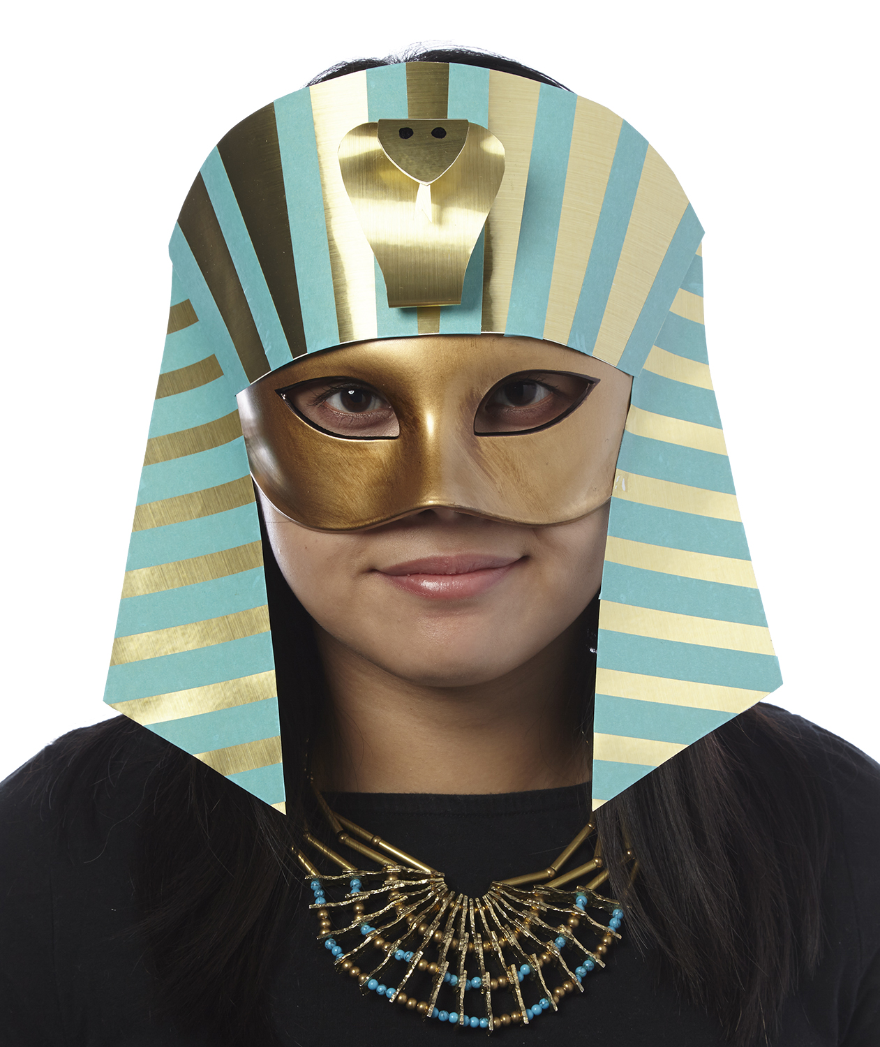 DIY Halloween costumes - Pharaoh mask
