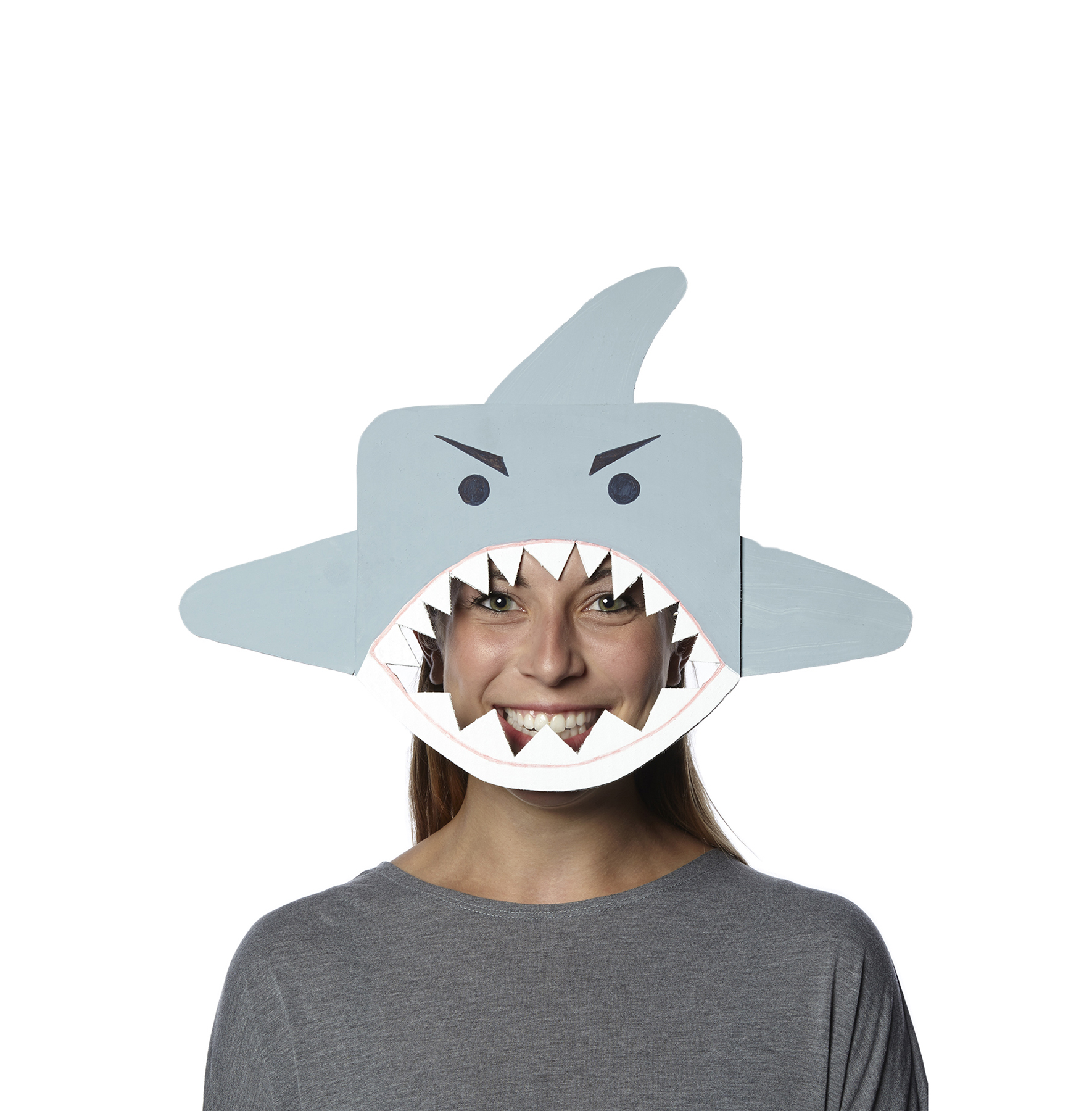 DIY Halloween costumes - Shark Mask