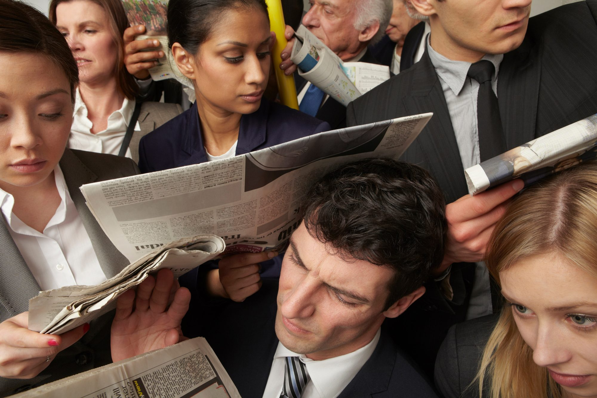 People Crowded on Train