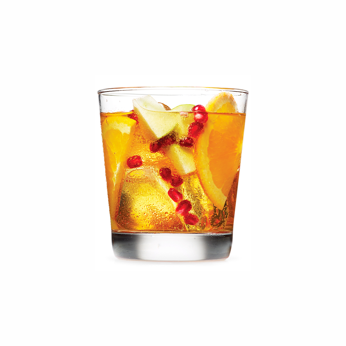 Spiced Rum and Cider Sangria With Pomegranate Seeds