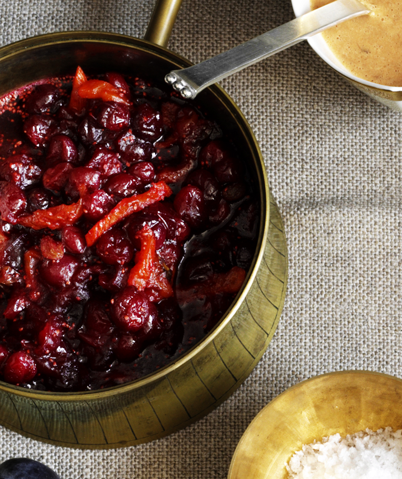 Grapefruit-Apricot Cranberry Relish With Rosemary