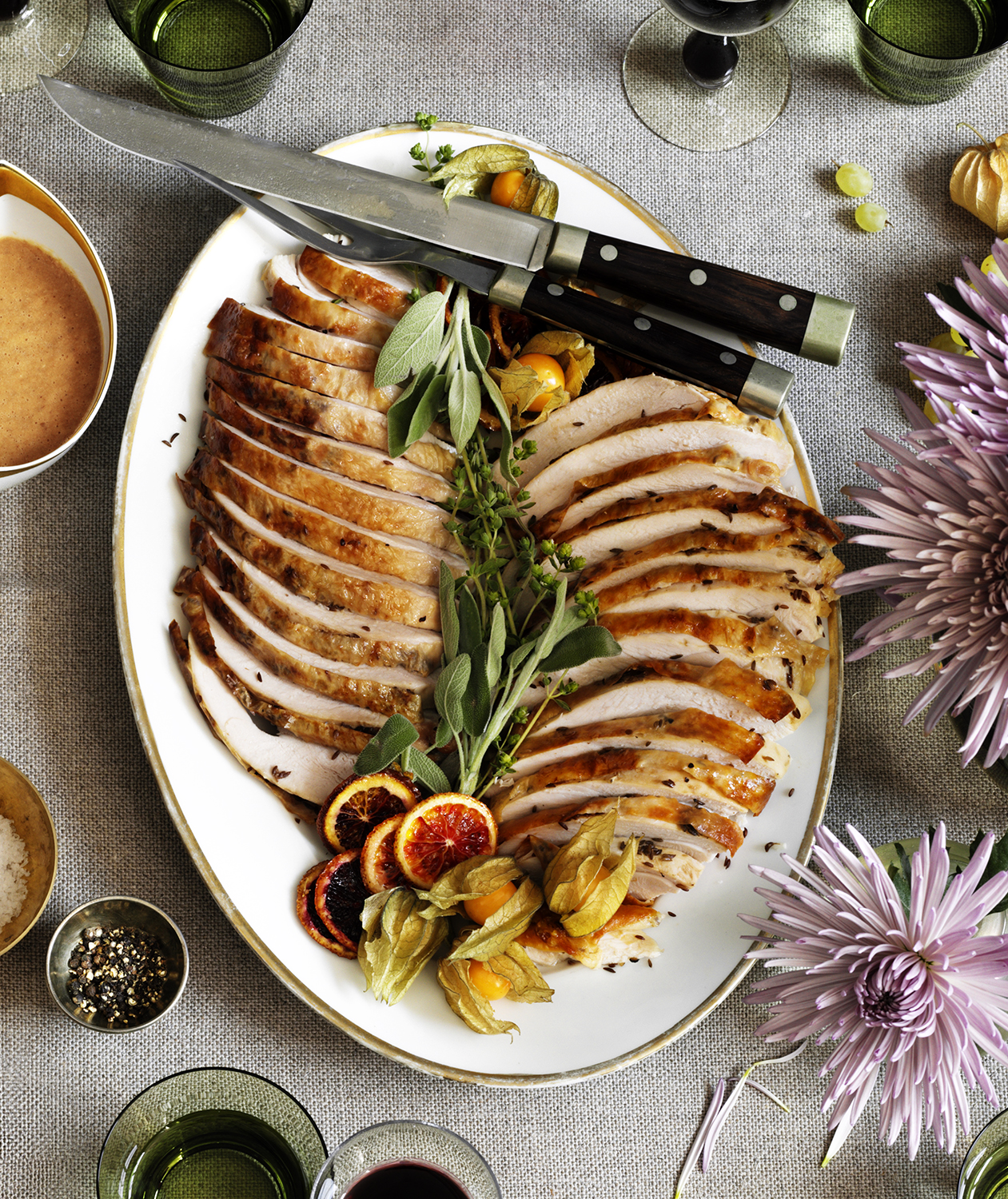 Roasted Turkey Breast With Caraway-Lemon Butter