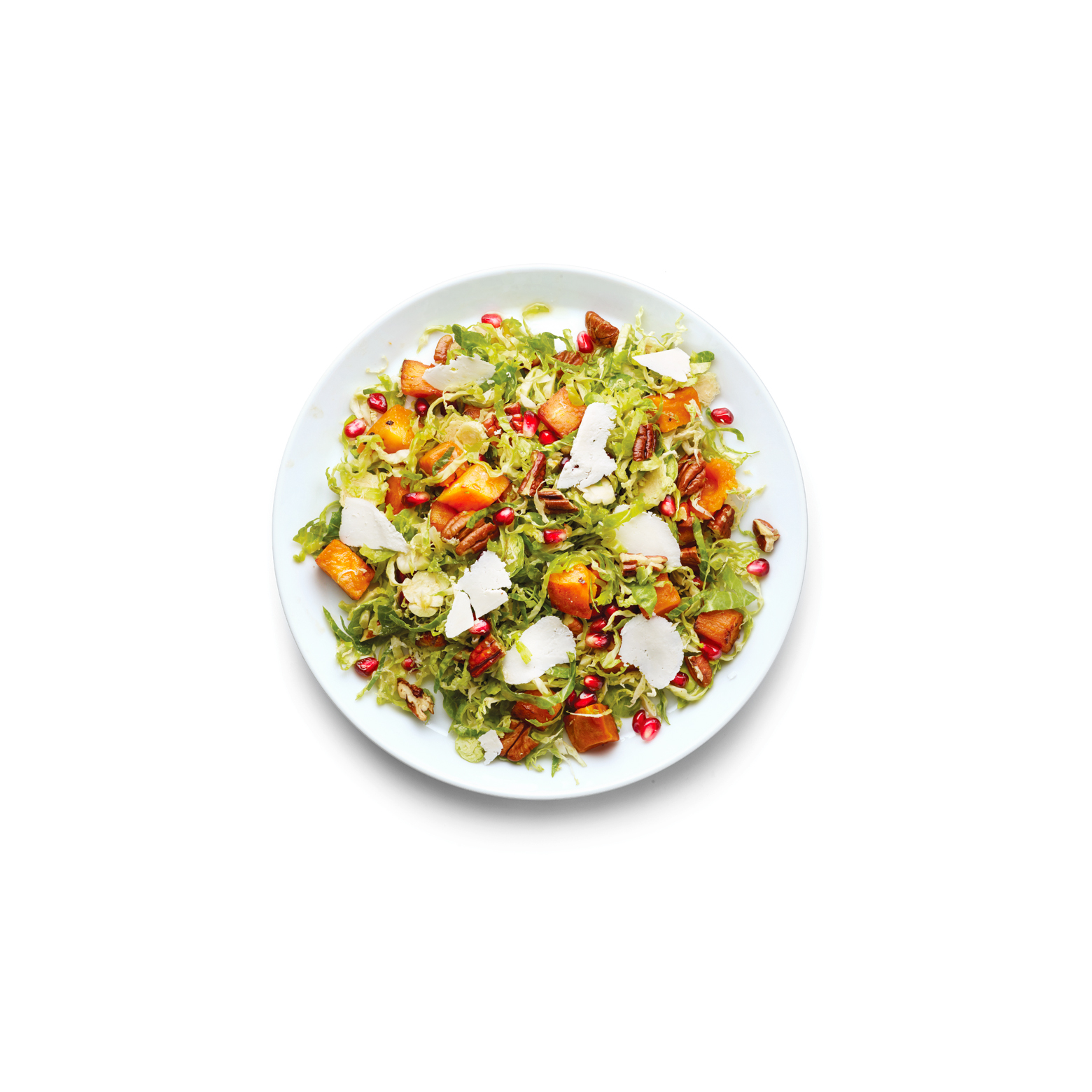 Thanksgiving Salad: Brussels Sprouts, Sweet Potato, and Pomegranate Seed Salad