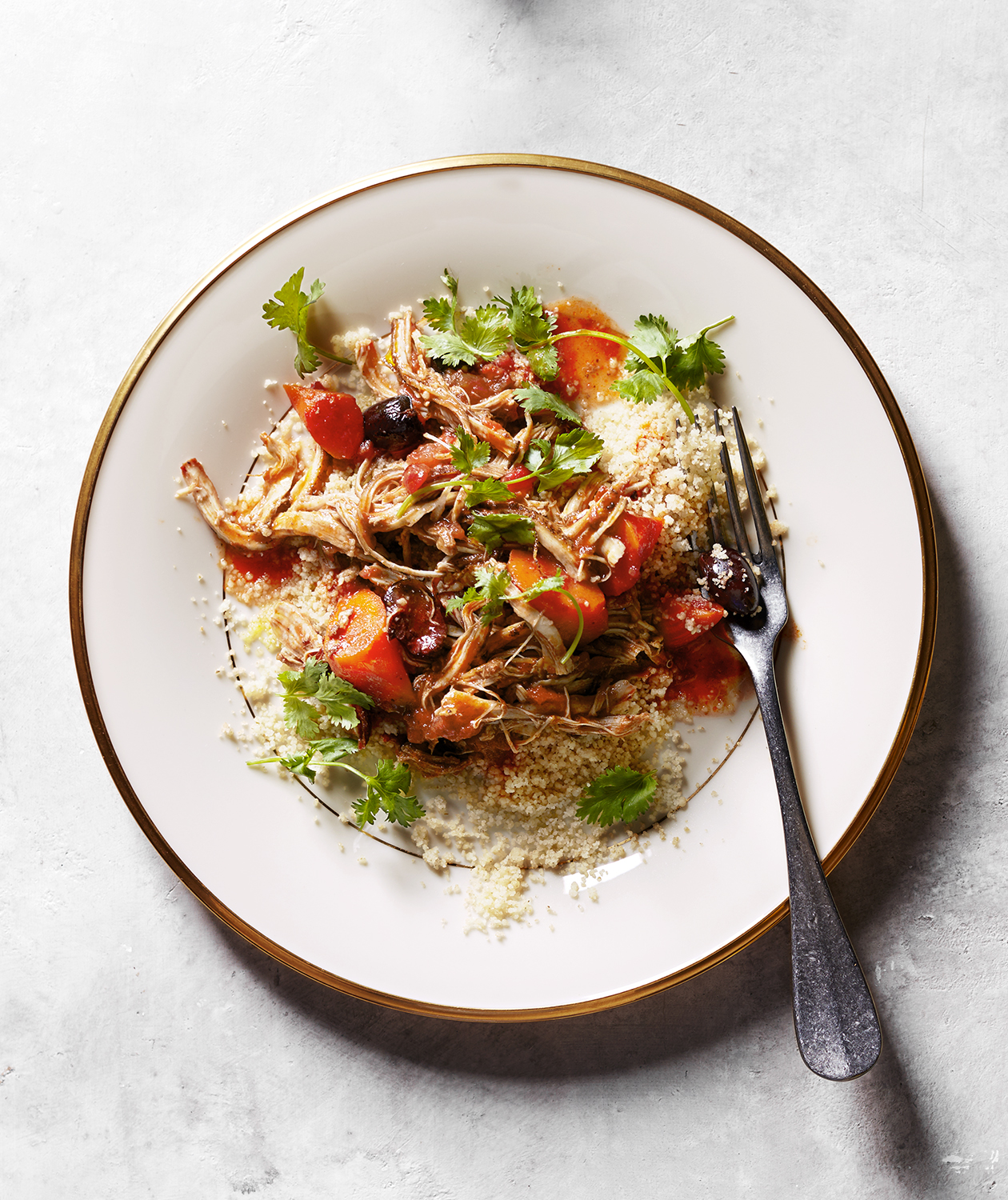 Slow-Cooker Moroccan-Spiced Chicken Thighs with Couscous