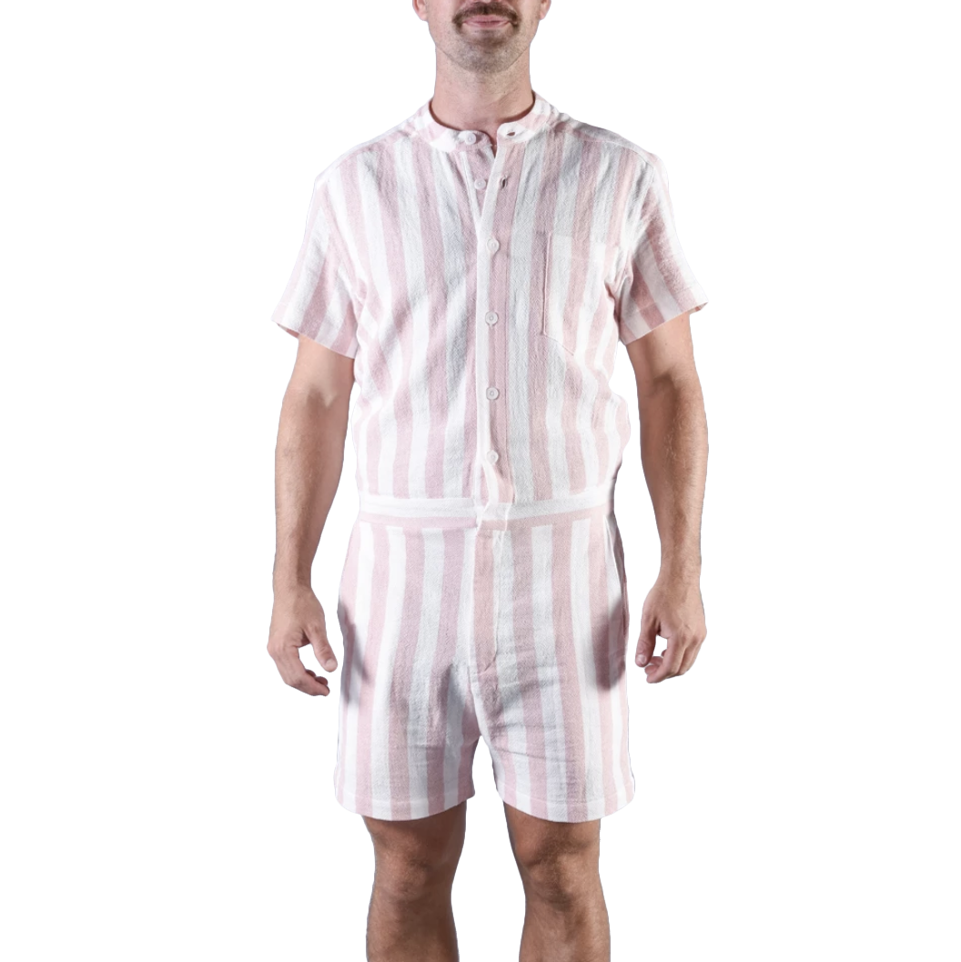 Funny gifts for men - Romphim Pink Stripe Romper