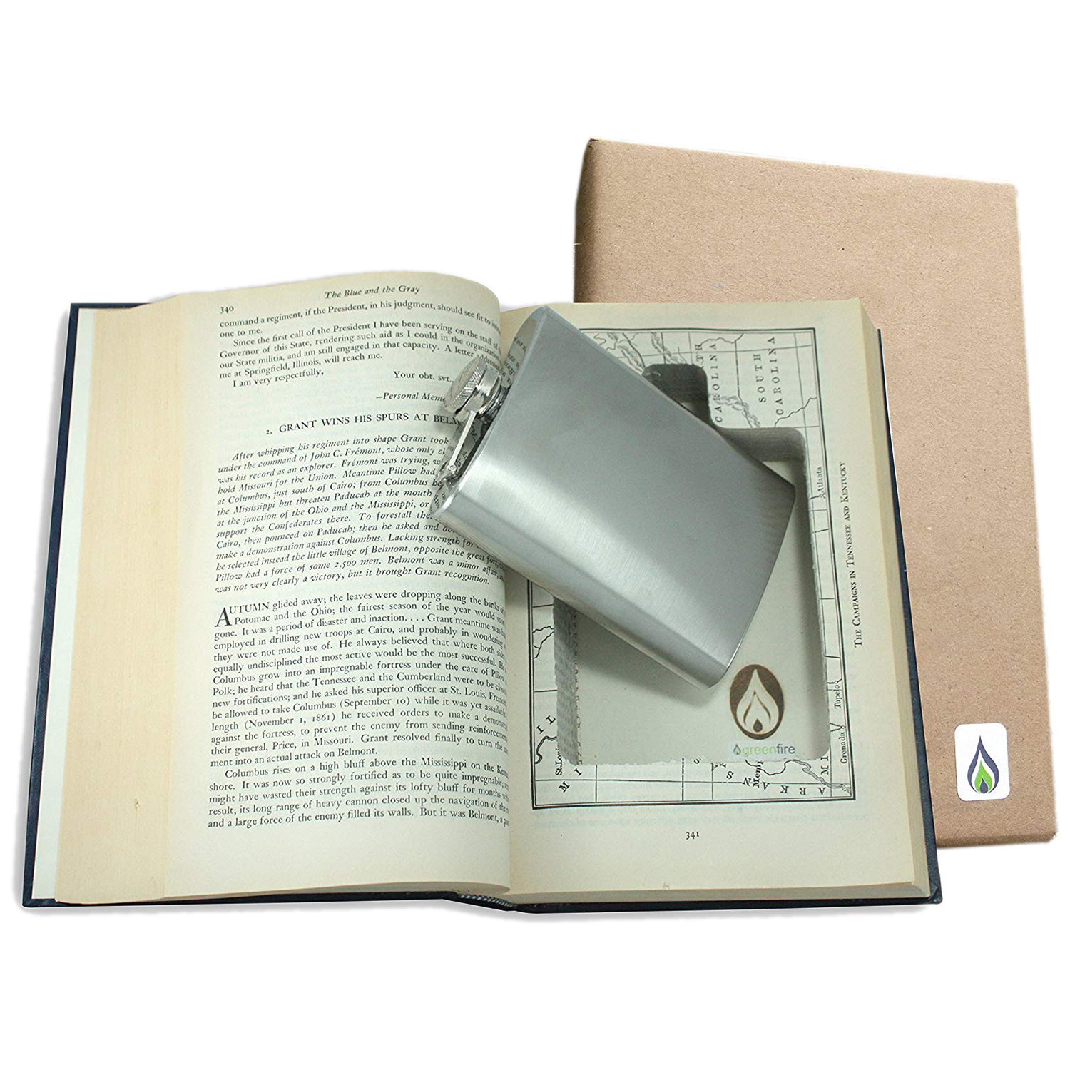 Funny gifts for men - SneakyBooks Recycled Hollow Book Hidden Flask