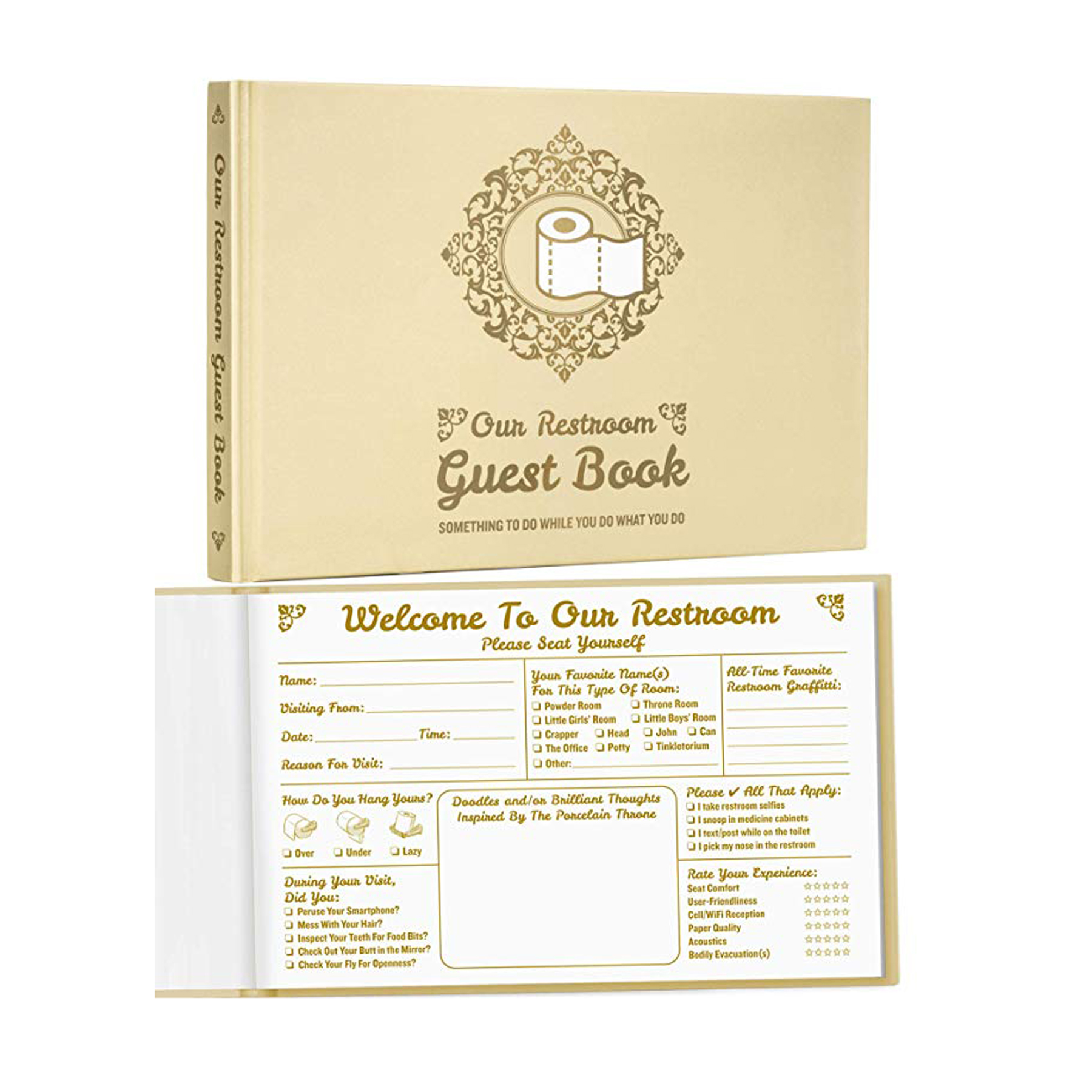 Funny Gifts for Men - Maad Bathroom Guest Book