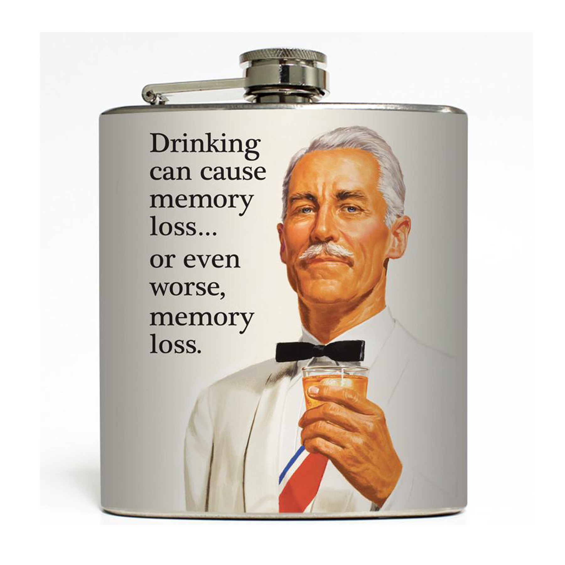 Funny Gifts for Men - Liquid Courage Memory Loss Flask