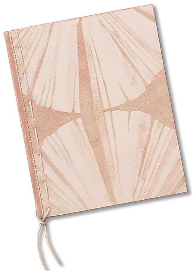 Anthropologie Penny Shell Leather Journal