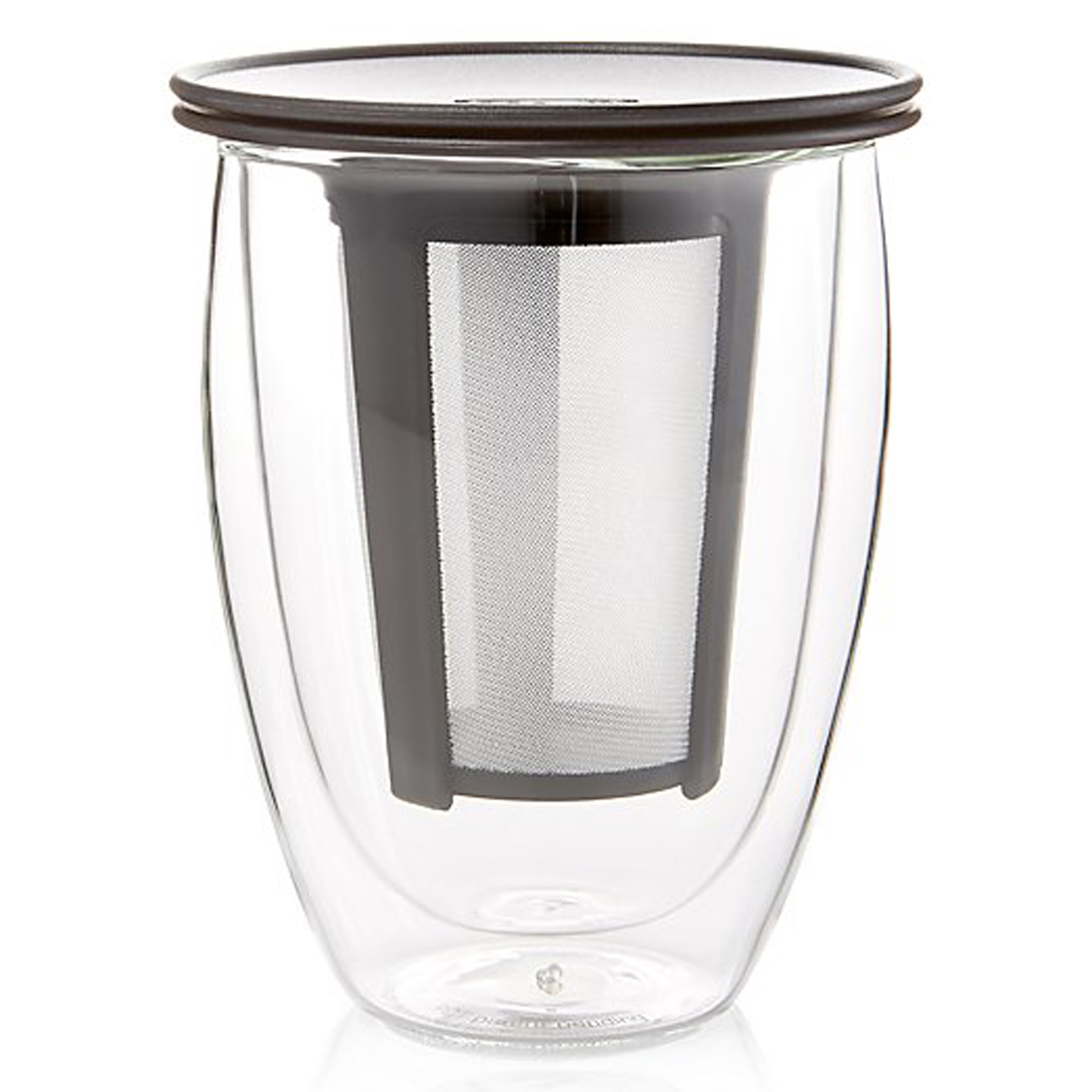 Bodum Tea For One glass tea tumbler with strainer