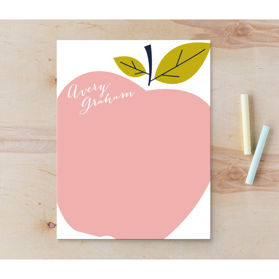 Minted personalized stationery apple notebook teacher gift
