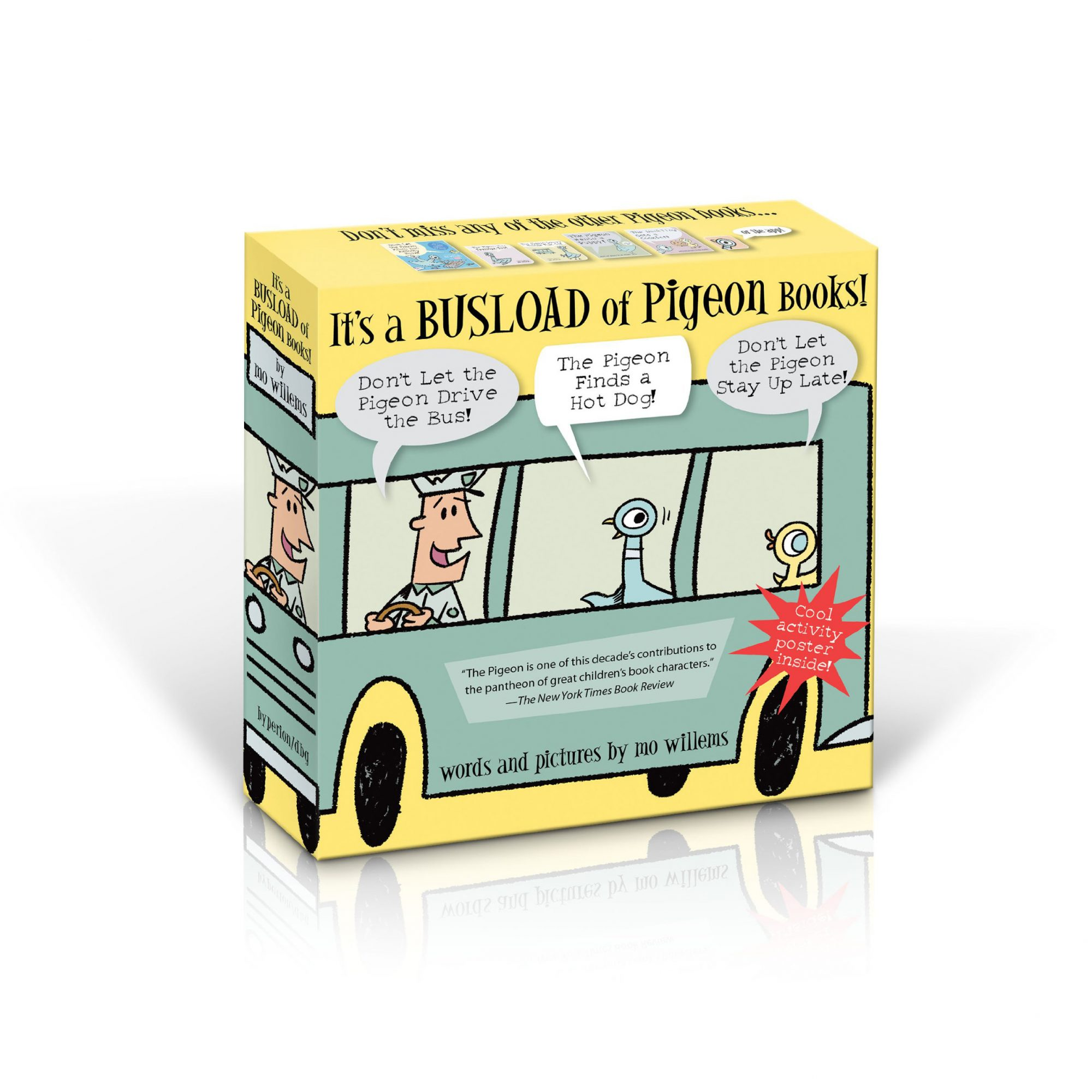 "Mo Willems ""It's a Busload of Pigeon Books!"" picture book set"