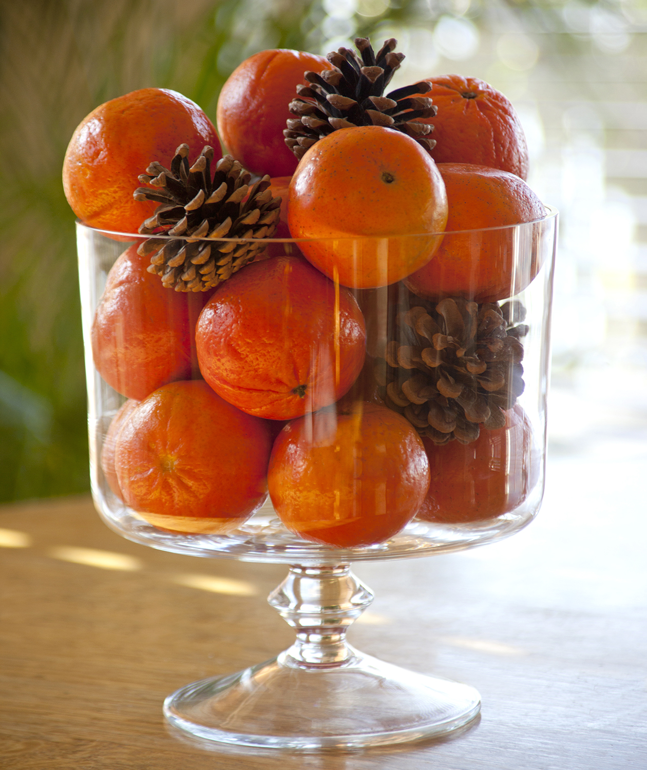 Tangerine holiday centerpiece