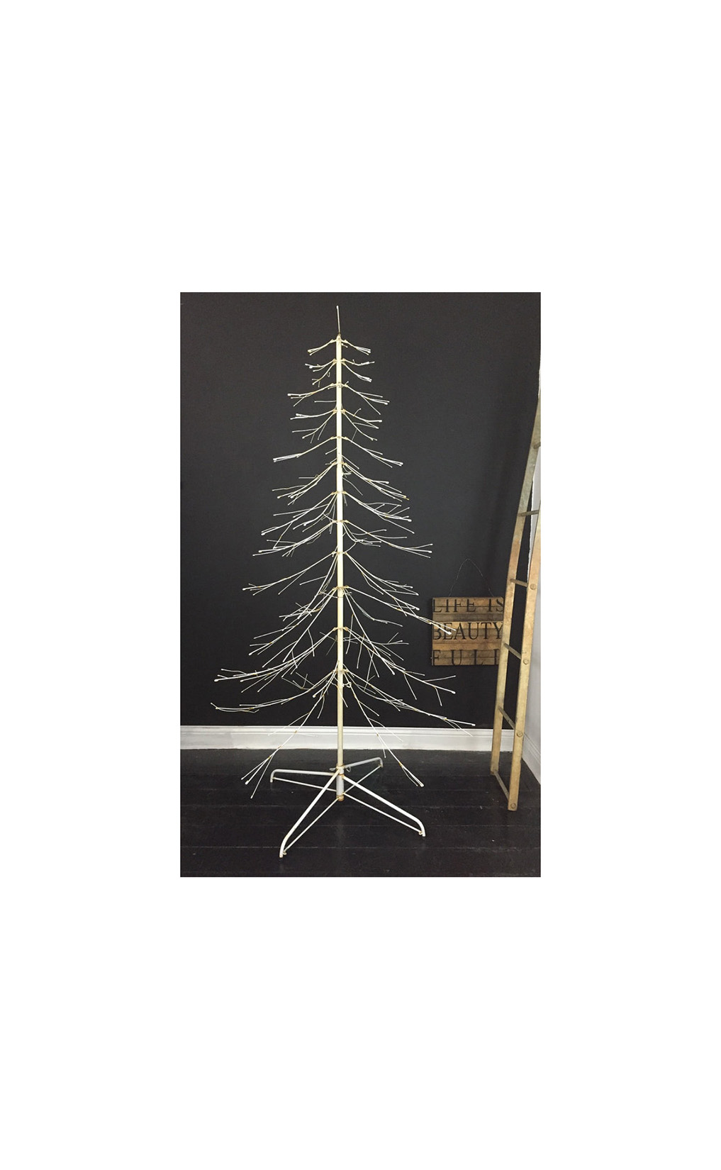 Vintage Simple White Minimalist Mid Century Christmas Tree by bestfavoritethings Etsy Shop