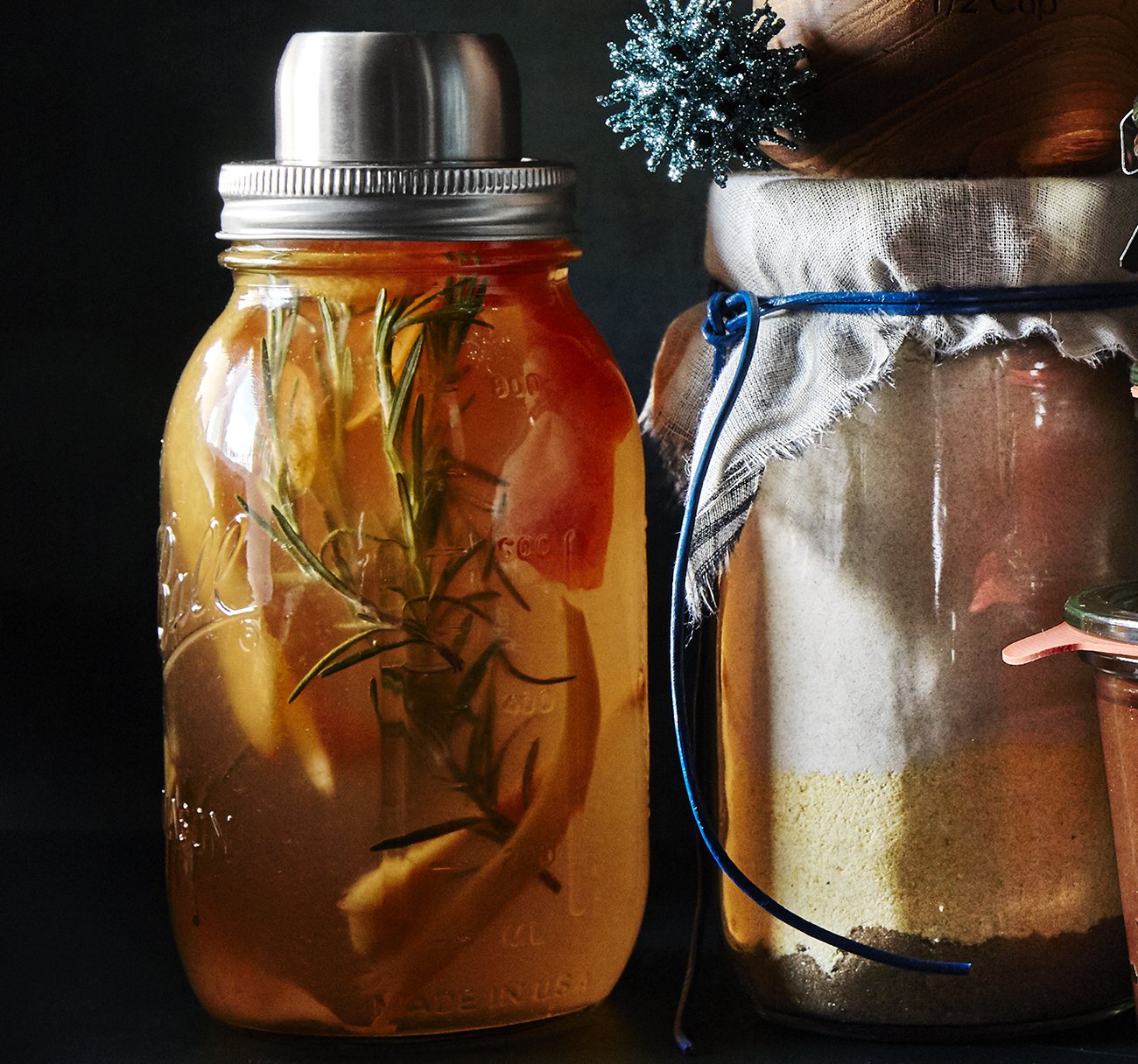 Food gift: Rosemary, Ginger, And Grapefruit Syrup