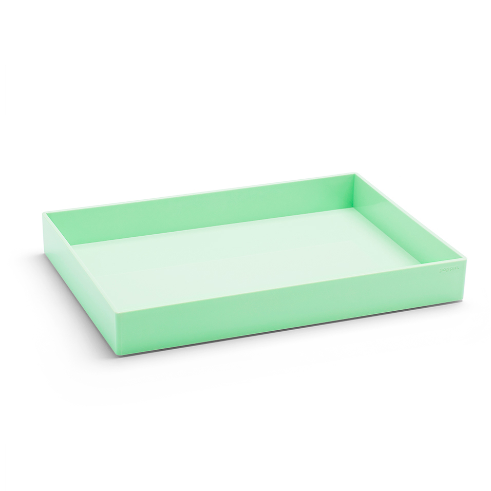 Poppin Large Accessories Tray in mint