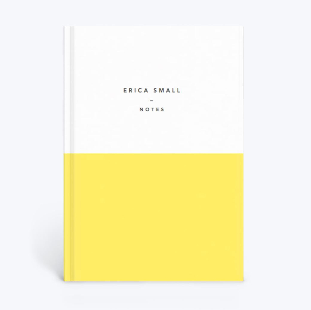 Papier Demi Notebook in yellow and white color block