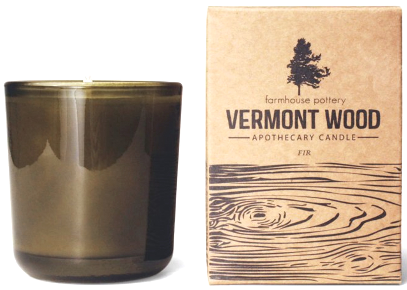 Farmhouse Pottery Vermont Wood Fir Candle