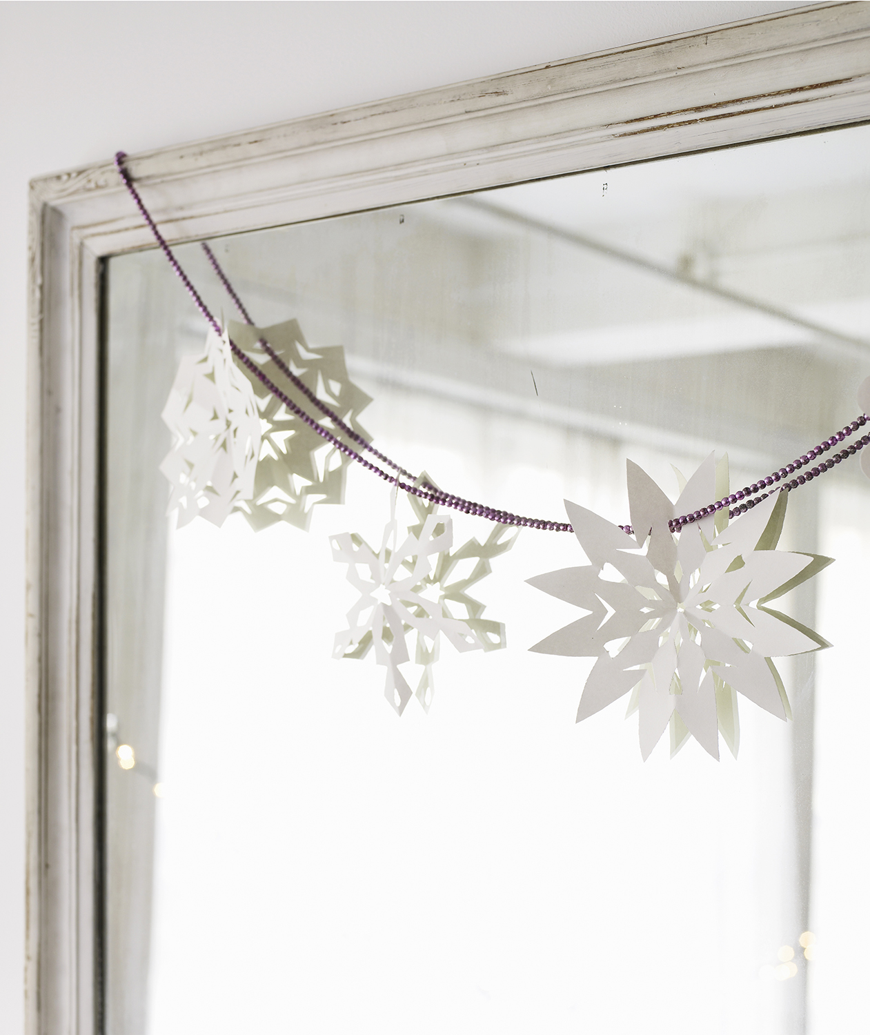 Handcrafted Paper Snowflake Garland