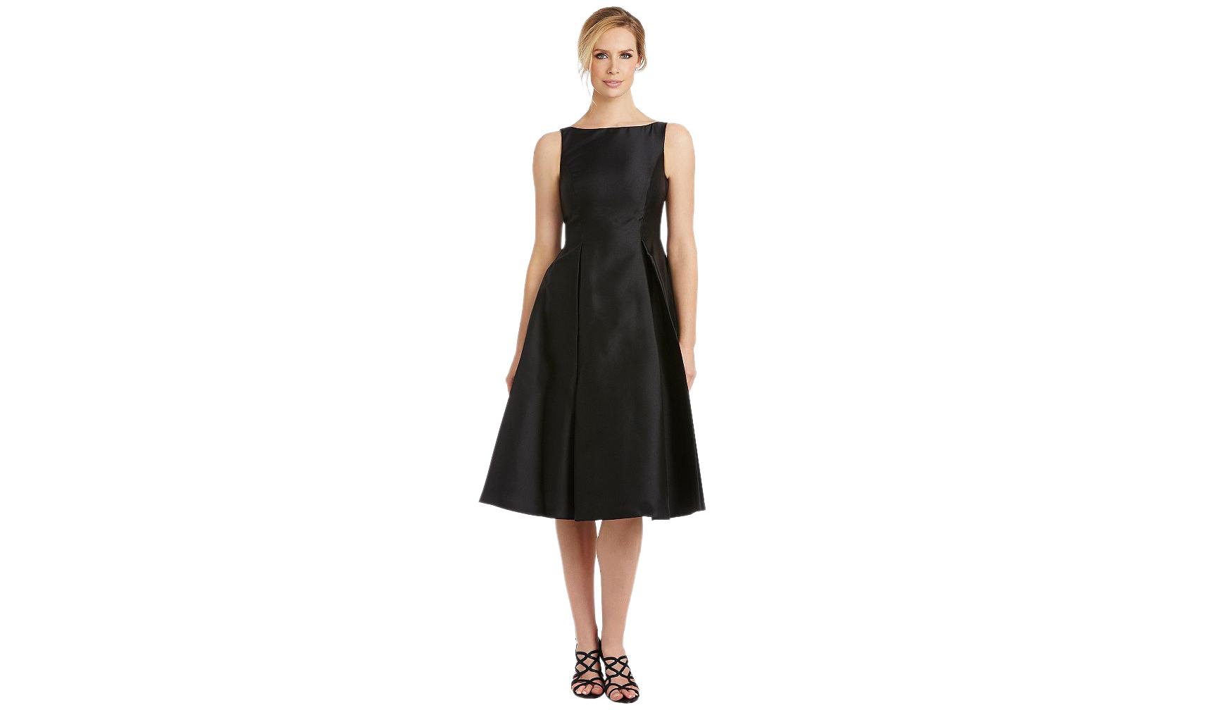 Adrianna Papell Sleeveless Midi Taffeta Dress