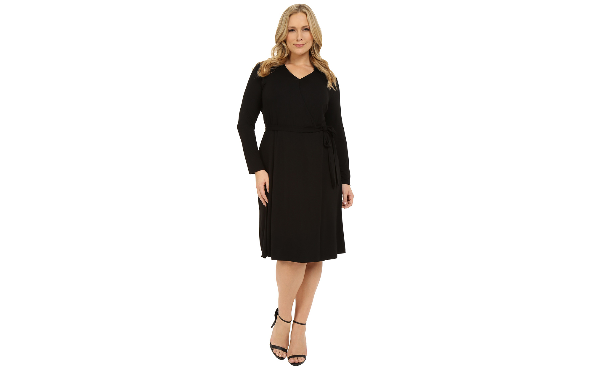 Vince Camuto Plus Plus Size 3/4 Sleeve Faux Wrap Dress