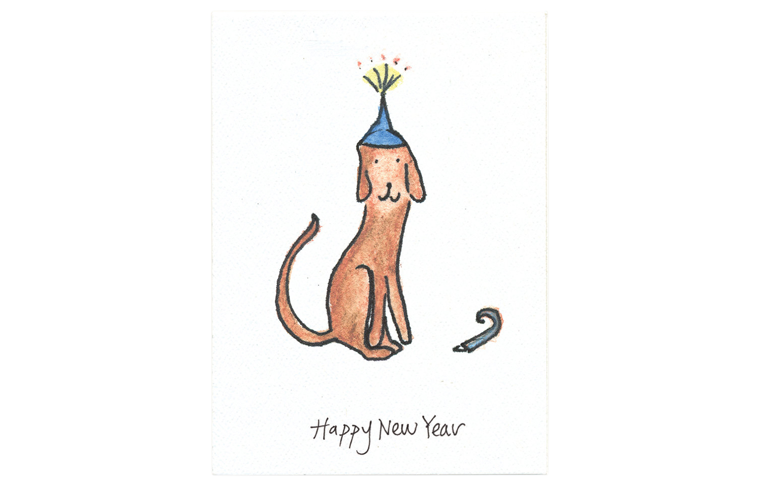 Happy New Year Dog Card