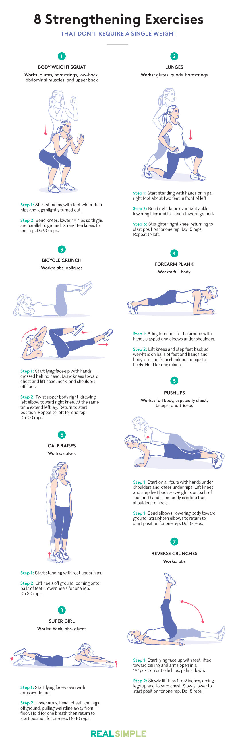 8 best bodyweight exercises: Pictures and steps
