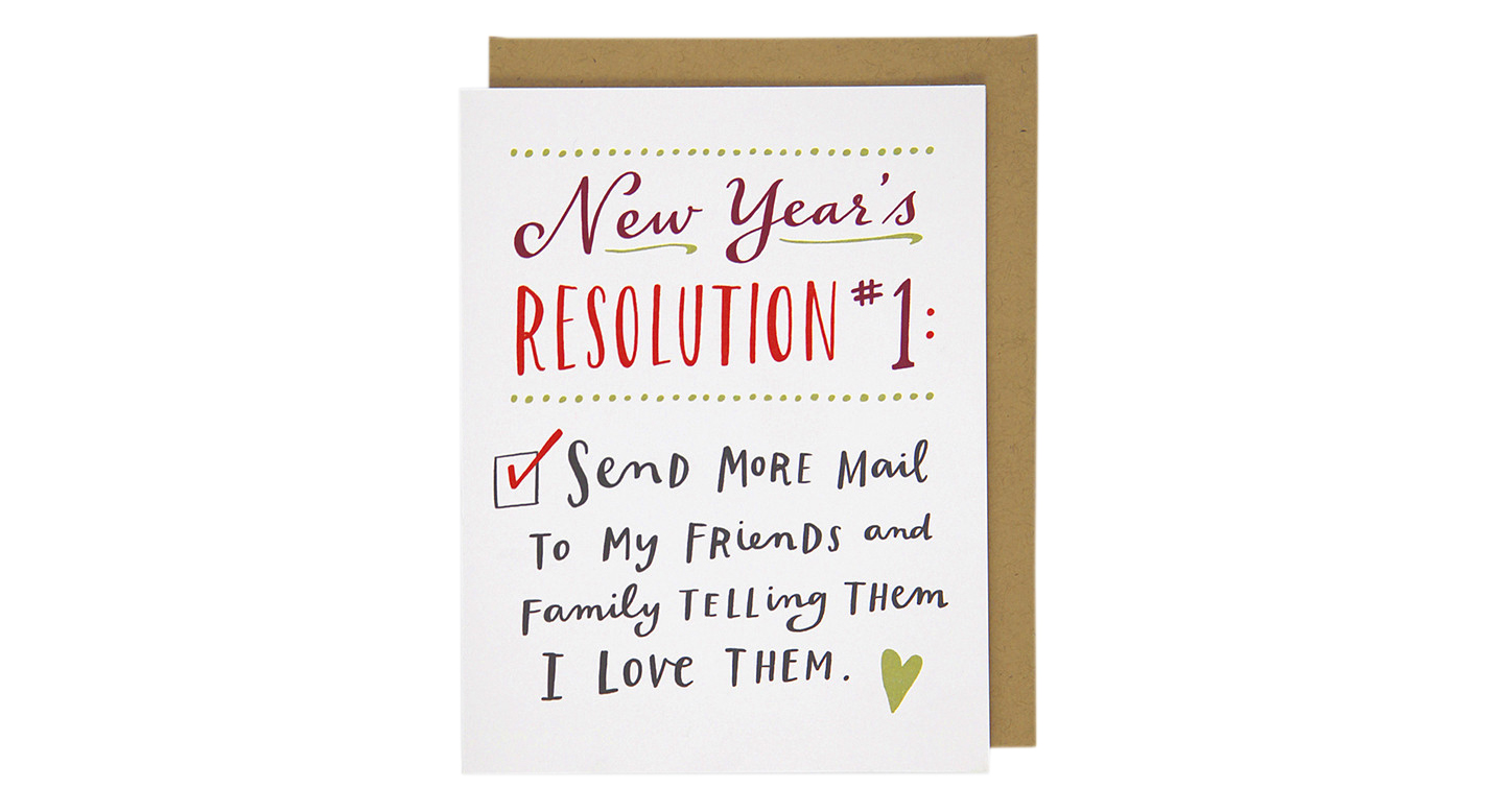 New Year's Resolution #1 Card