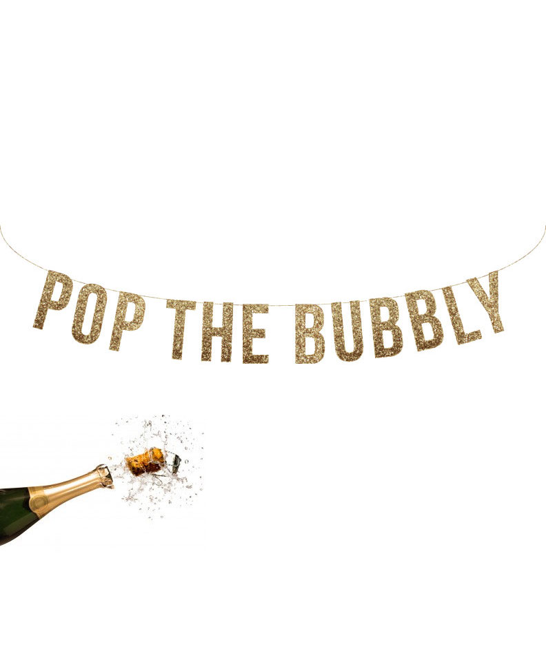 Pop the Bubbly Garland