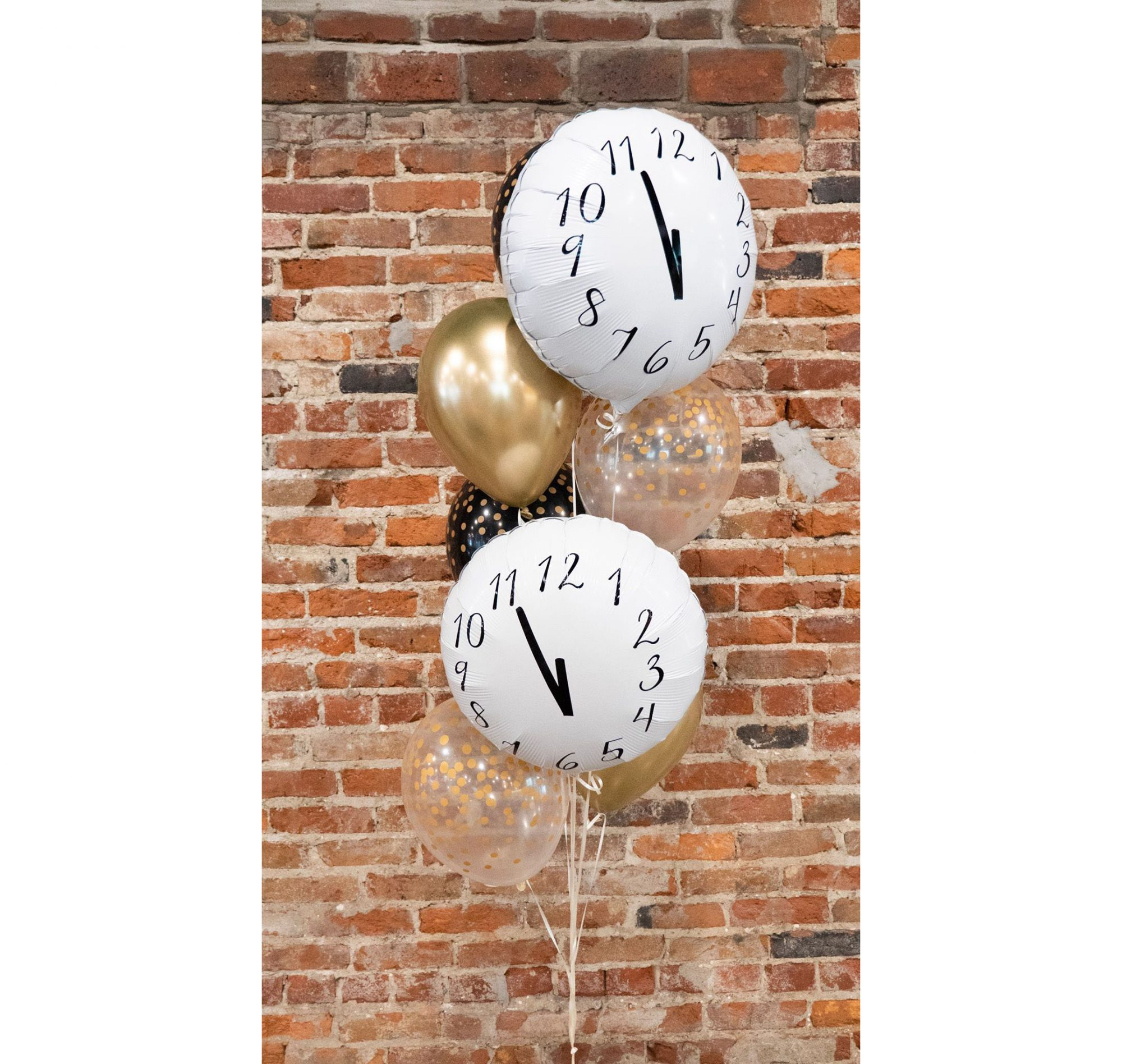 New Years Eve Decorations, Clock Balloons
