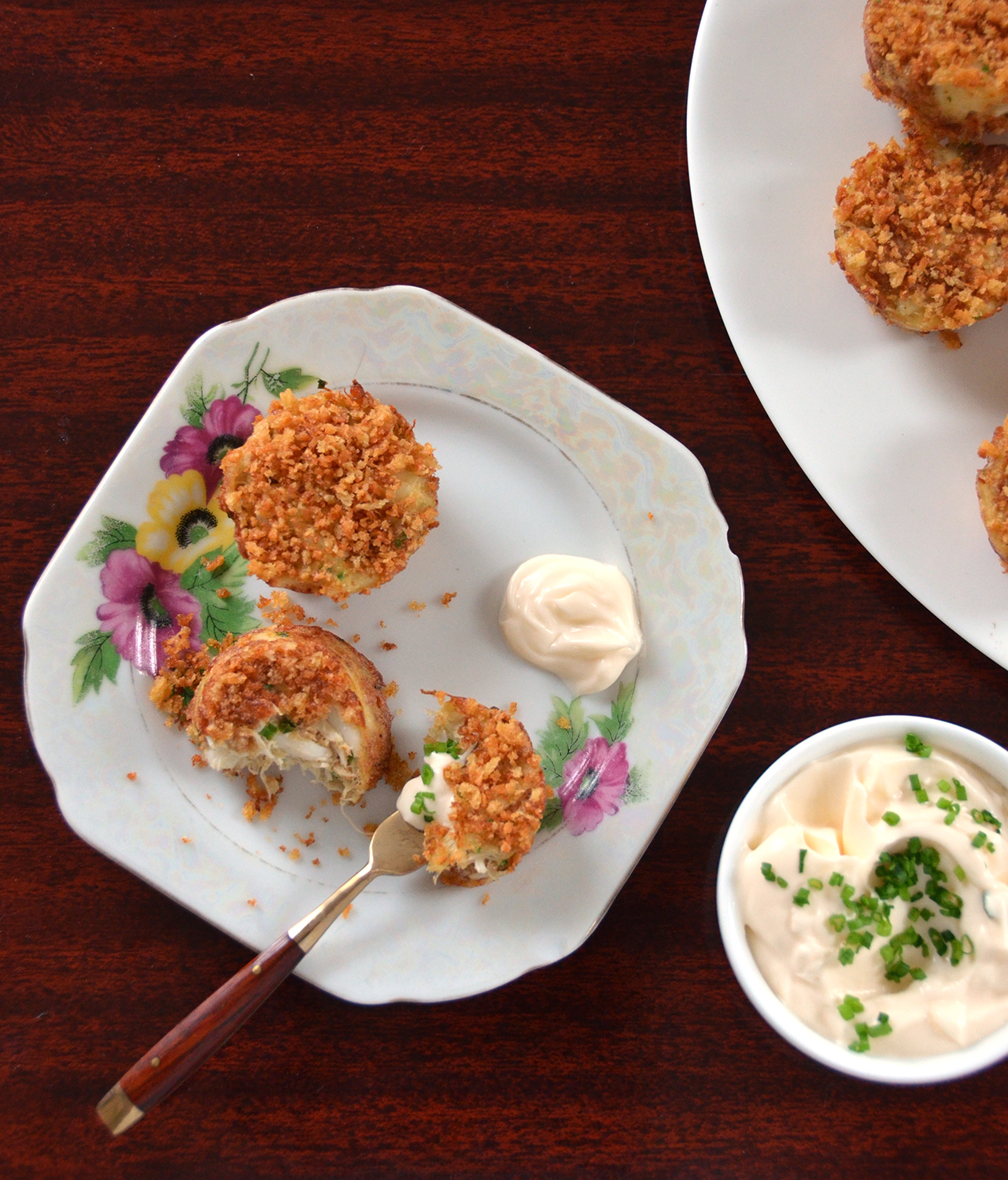 Mini Crab Cakes with Lemon-Chive Mayonnaise