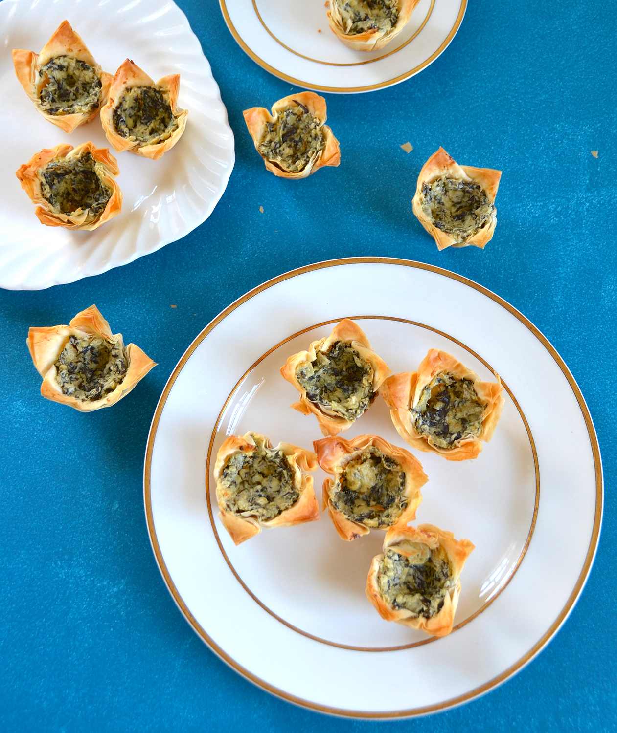 Spinach and  Artichoke Phyllo Cups