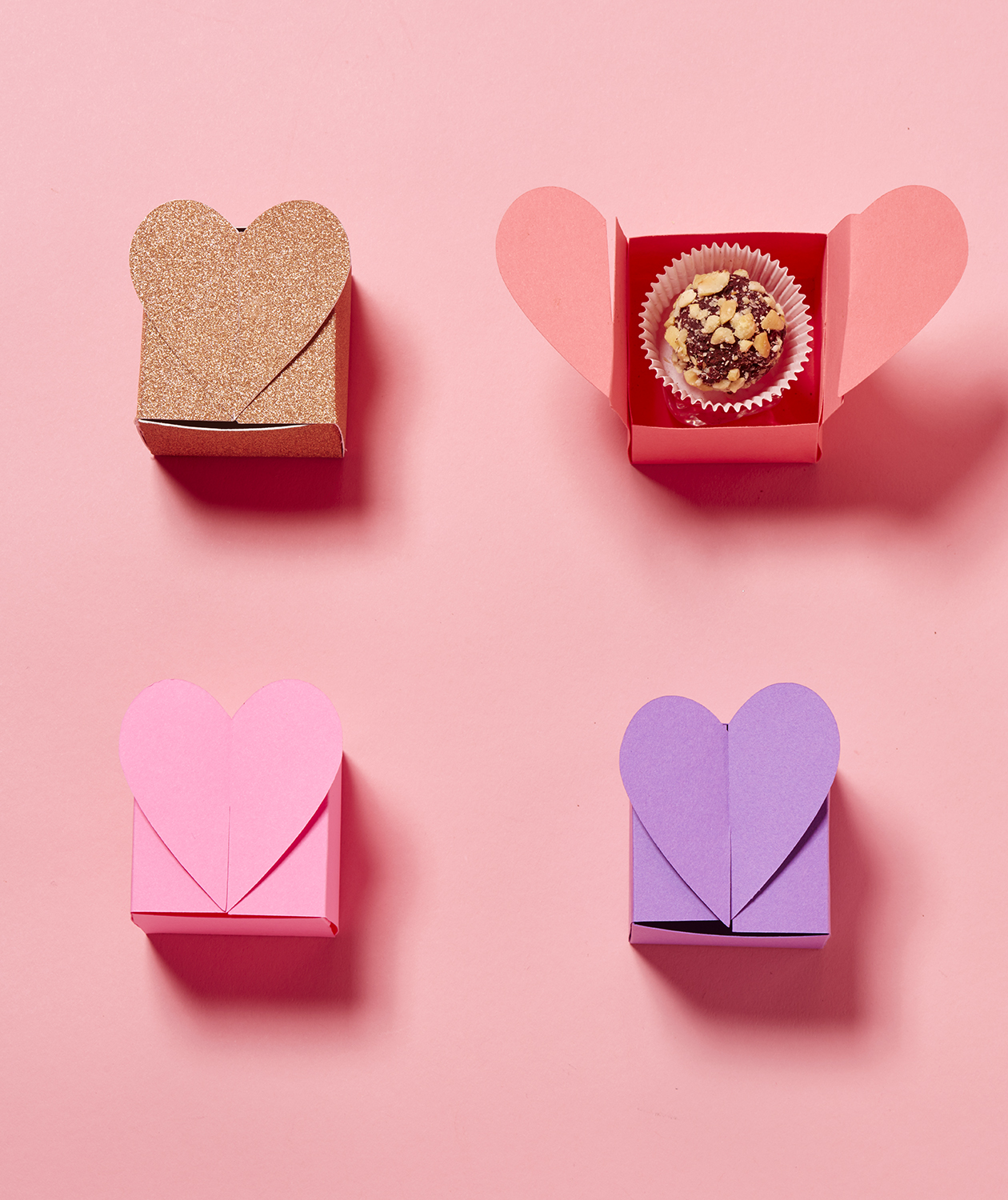 Valentine's day crafts - Heart Top Truffle Box