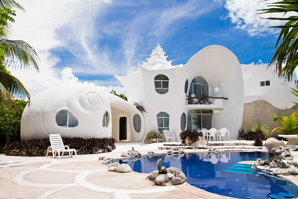 The Seashell House (Casa Caracol) in Isla Mujeres, Mexico
