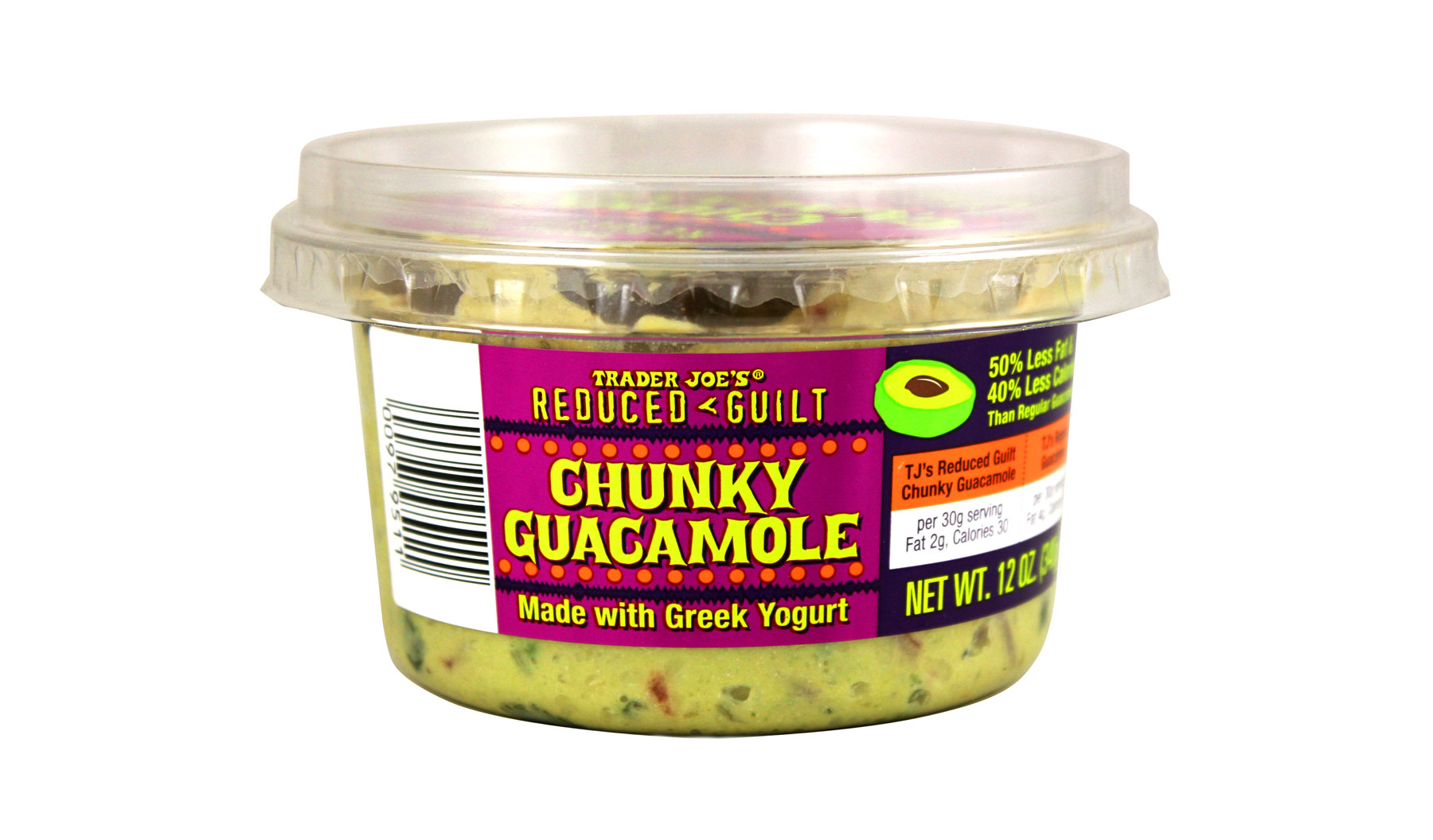 Trader Joe's products/editors' picks - Trader Joe's Reduced Guilt Chunky Guacamole with Greek Yogurt