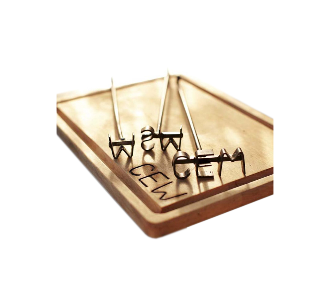 Monogrammed Steak Brand and Carving Board
